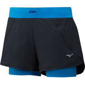 Mizuno Mujin 4.5 Running Shorts Women blue/black